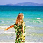 Beautiful Woman Enjoying Summer Vacation