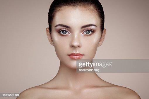Beautiful woman face : Stock Photo