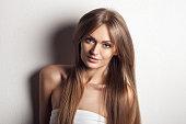 Beautiful Woman. Healthy Long Hair.