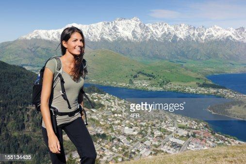 Beautiful woman hiking (XXXL)
