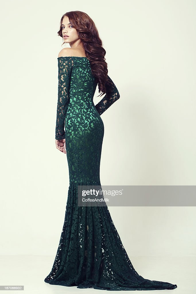 Beautiful woman in cocktail dress