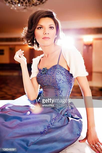 Beautiful Woman in evening dress portrait