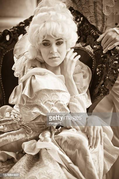 Beautiful Woman in Old French Costumes
