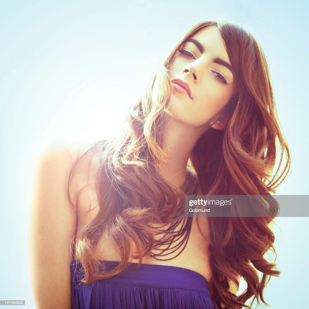 Beautiful Woman In The Sun : Stock Photo