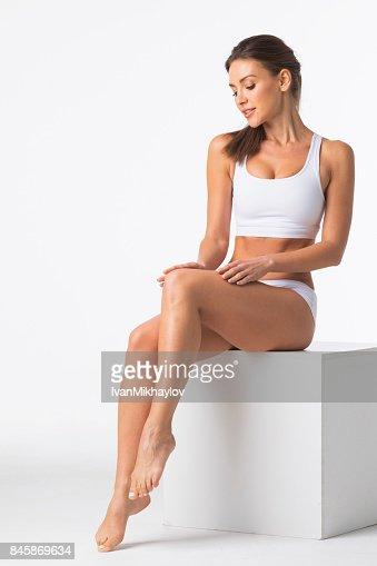 Beautiful woman in underwear : Stock Photo