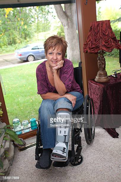 Beautiful woman in wheelchair