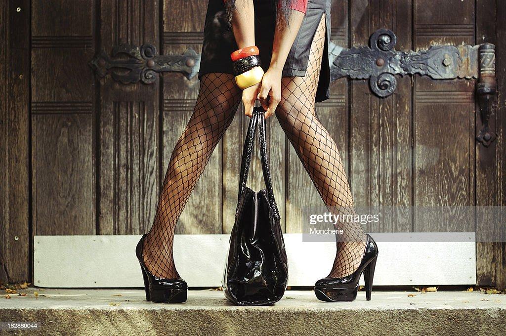 Beautiful Woman Legs with High Heels