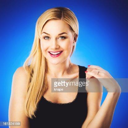 Hermosa mujer en azul