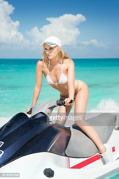 Beautiful woman on Jet Ski / Waverunner