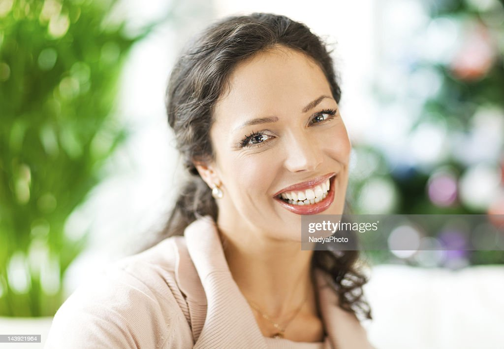 Beautiful Woman Relaxing At Home : Stock Photo