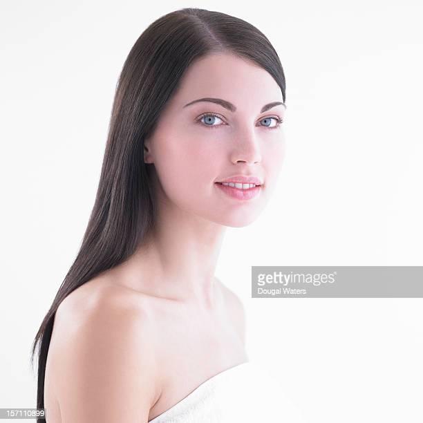 Beautiful woman smiling.