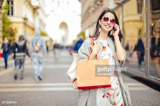 Beautiful woman spending time in the city