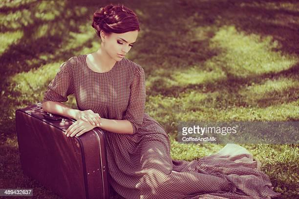 Beautiful woman wearing dress