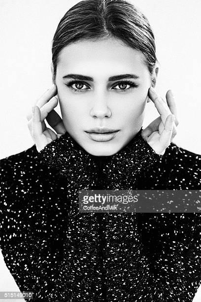 Beautiful woman wearing sweater