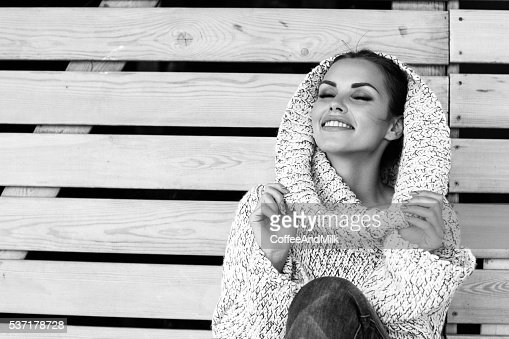 Beautiful woman wearing winter clothes