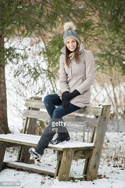 Schöne Frau Winter Mode