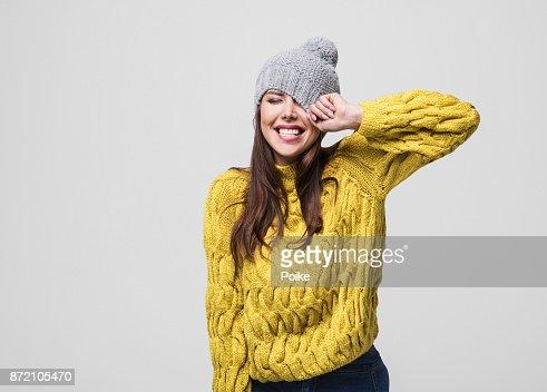 portrait de la Belle femme d'hiver : Photo