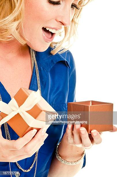 Beautiful Woman with a gift box.