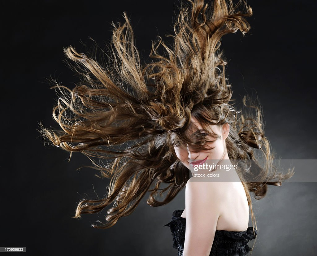 beautiful woman with luxurious hair : Stock Photo