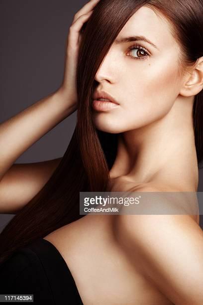 Beautiful woman with luxury hairs