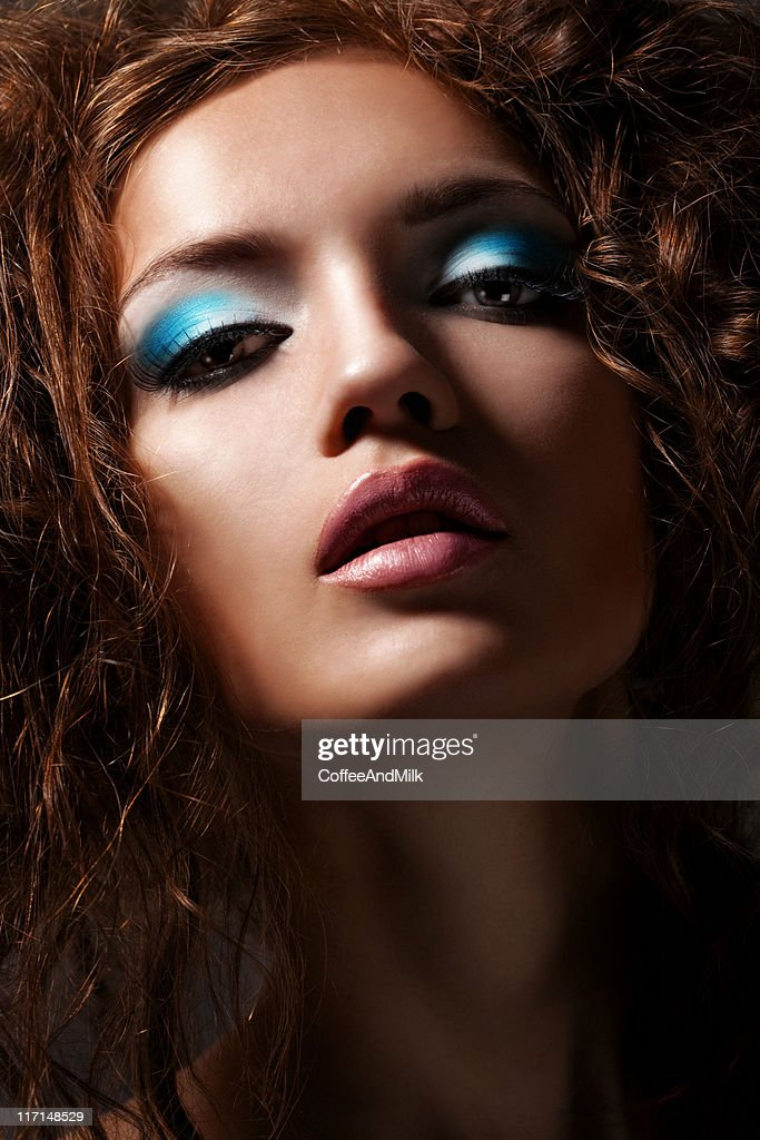 Beautiful woman with make up : Stock Photo