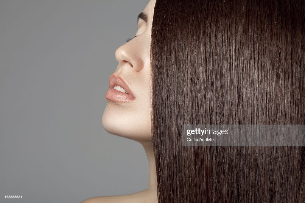 Beautiful woman with perfect hairs