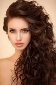 Beautiful woman with perfect hairstyle