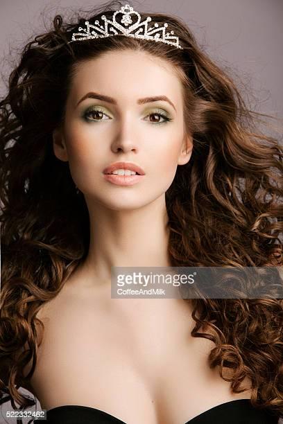 Beautiful woman with tiara