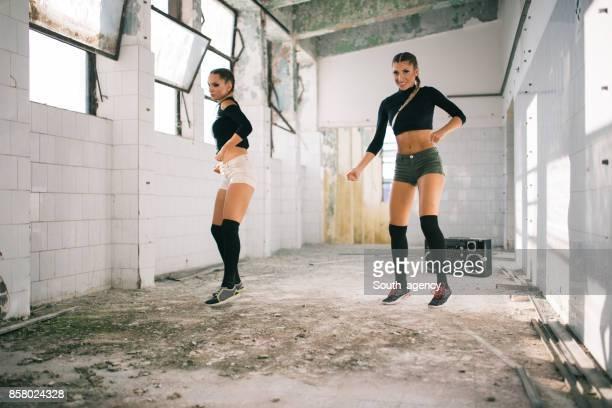 Beautiful women dancers