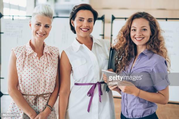 Beautiful women in the office