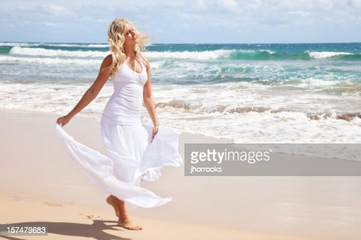 Beautiful Young Blonde Woman on Hawaiian Beach