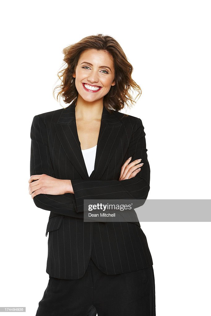 Beautiful young businesswoman looking confident : Stock Photo