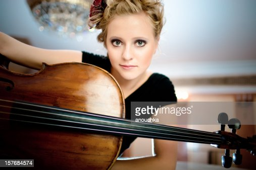 Beautiful Young Cello Player