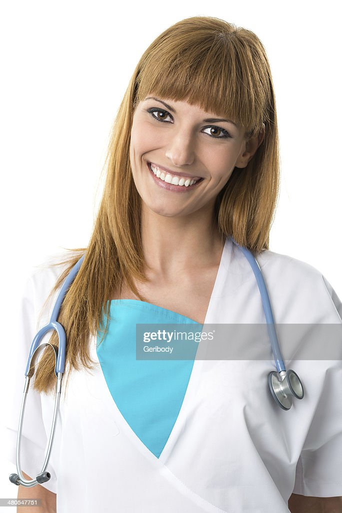 Beautiful young doctor portrait : Stock Photo