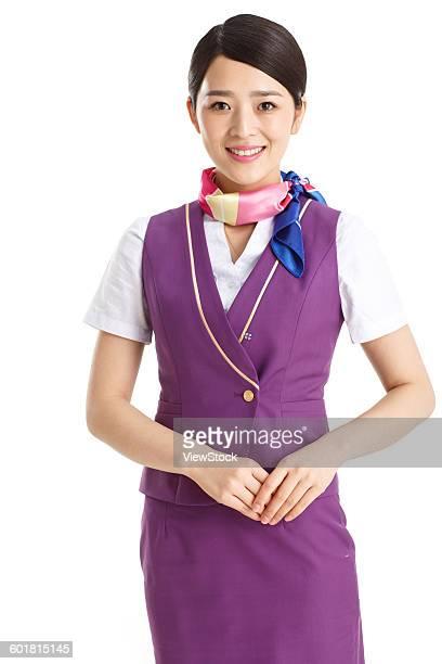 Beautiful young female cabin crew