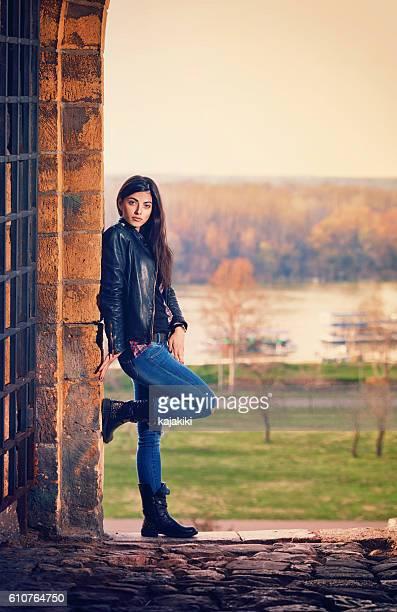 Beautiful Young Girl Posing Outdoor