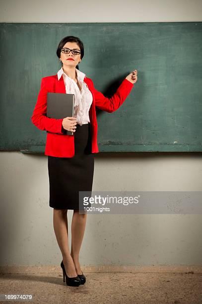 Schöne junge Lehrer