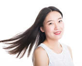 Asian woman with black hair
