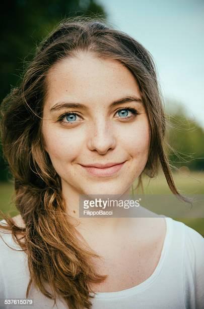 Schöne Junge Frau Porträt