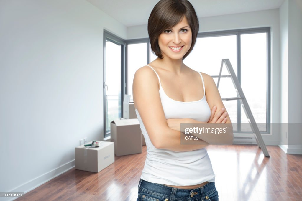 Beautiful Young Woman While Moving : Stock Photo