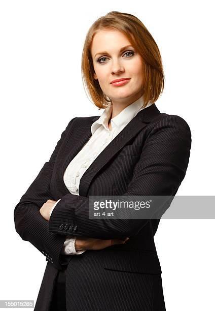 Beautifull businesswoman looking at camera