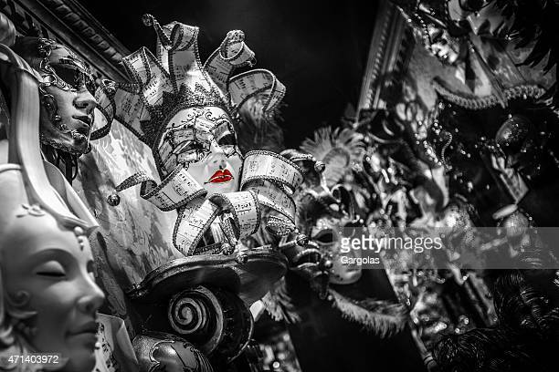 Beautifull Ornate carnival masks for sale in Venice, Italy