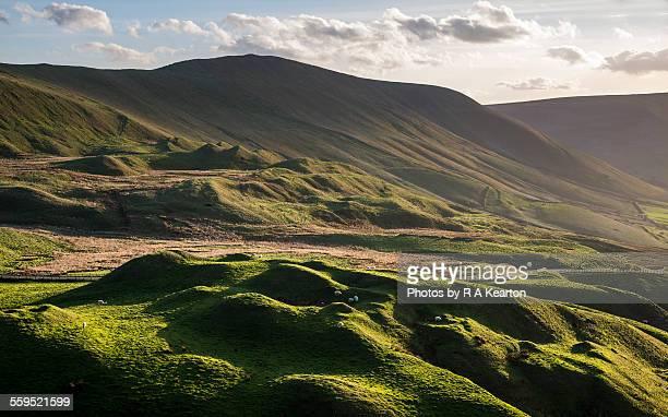 Beautifully bumpy Peak District landscape