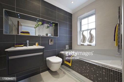 beautifully tiled bathroom