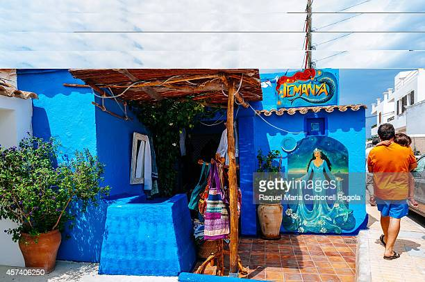 Beautifuly painted blue shop