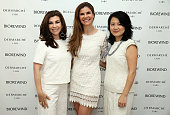 Beauty and Lifestyle Expert Luciene Salomone Dr Dendy Engelman and Senior Vice President General Manager at Dermarche Labs Esther Dong attend the...