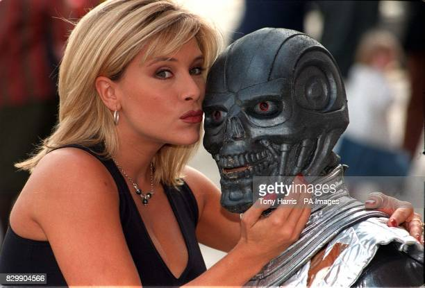 Beauty and the BeastModel Samantha Fox comes facetoface with an alien at the London International Book Fair this afternoon Miss Fox in the role of...