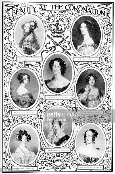 'Beauty at the Coronation' Female members of the British aristocracy who attended the coronation of Queen Victoria