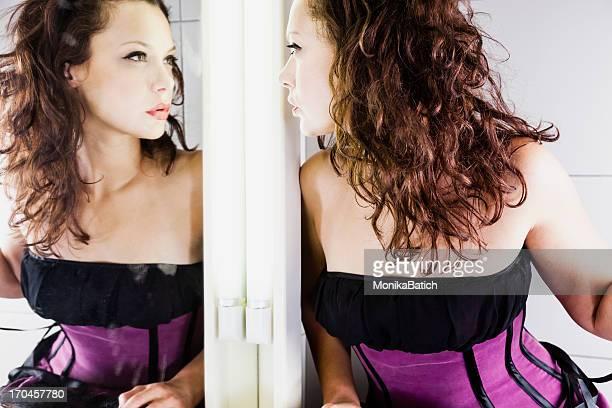 Beauté dans le miroir