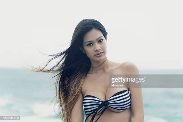 Beauty beach portrait